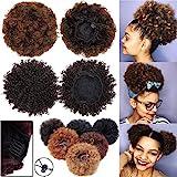 Extensión del Pelo Natural Afro Rizado Rizado Updo Envoltura en el Pelo Cordón de Soplo Cola de...