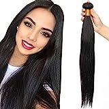18'(45cm) Extensiones de Cortina Cosida Pelo Natural Humano Cabello Virgen Brasileño 100% Remy Hair...