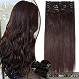 Elailite Extensiones de Pelo Natural 100% Human Hair Cabello Humano Largo 110g
