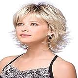 Fleurapance - Pelucas cortas para mujer, estilo bobo, estilo bobo, color rubio dorado y resistente...