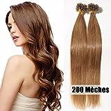 40 extensiones de cabello natural, con queratina