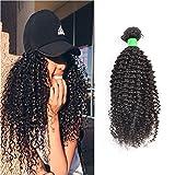 Wendy Hair - Extensiones de pelo brasileño sin procesar, 100 g, rizadas, 1 extensiones de pelo...