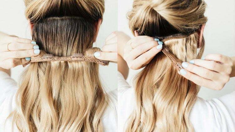 Como poner extensiones de pelo